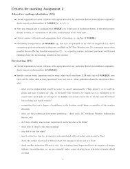 criteria used in marking