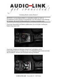 Anleitung Radio-Ausbau Mazda 5 HINWEIS: Um Installationsfehler ...