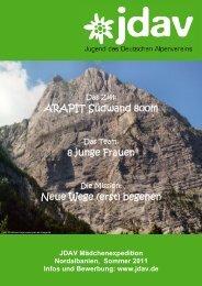 Ausschreibung JDAV Maedchen Expedition ... - Climbing.de
