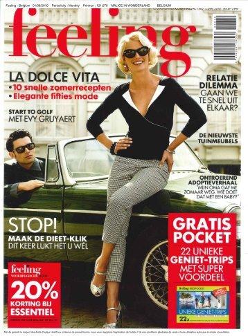 Feeling - Belgium 01/06/2010 Periodicity : Monthly Printrun ...