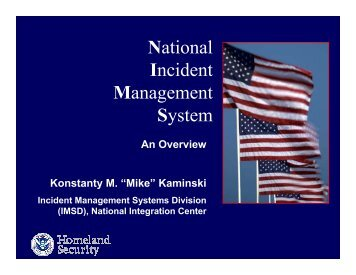 National Incident Management System - U.S. National Response ...