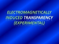 Electromagnetically Induced Transparency (Experimental)
