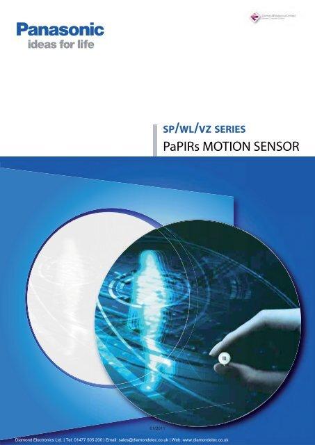 PaPIRs MOTION SENSOR - Diamond Electronics