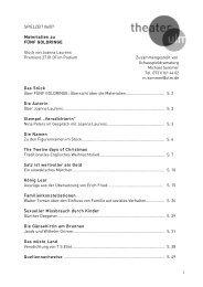 1 SPIELZEIT 06/07 Materialien zu FÜNF GOLDRINGE ... - Theater Ulm