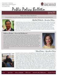 Public Policy Bulletin – Spring 2010 (Volume 3, Issue 1)
