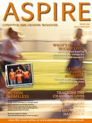 ACTION HOMELESS - Aspire Magazine