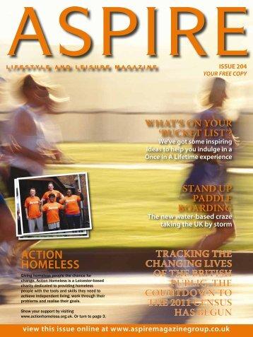 ACTION HOMELESS - Aspire Magazine