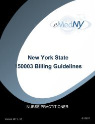 Nurse Practitioner Billing Guidelines - eMedNY
