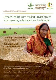Lessons learnt from scaling-up actions on food ... - CCAFS - cgiar