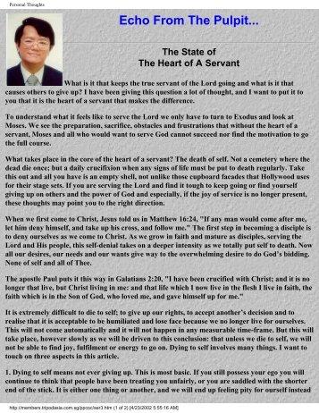 A Servant Heart