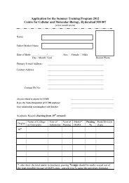 Application format - CCMB