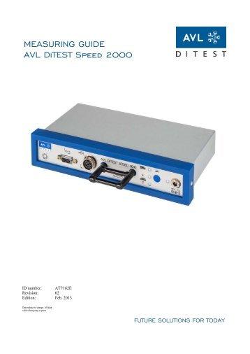 MEASURING GUIDE AVL DiTEST Speed 2000