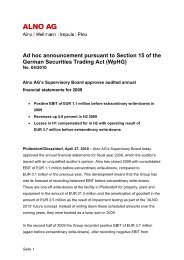 Ad hoc announcement pursuant to Section 15 of the German ... - Alno
