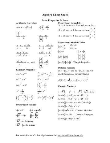 Calculus I - Pauls Online Math Notes