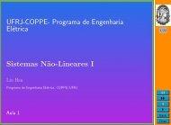 Programa de Engenharia Elétrica Sistemas N˜ao-Lineares I - UFRJ
