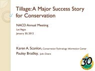 Tillage: A Major Success Story for Conservation - National ...