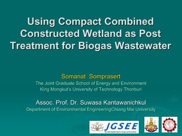 Using Compact Combined Constructed Wetland as Post Treatment ...