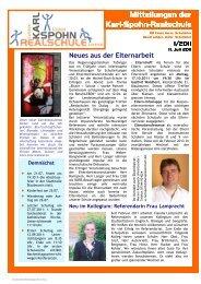 KSR-Mitteilungen 07/11 - bei der karl-spohn realschule
