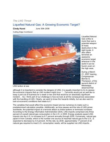 Liquefied Natural Gas - Foreign Military Studies Office