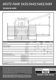 technische Daten 54er Serie - Deutz-Fahr