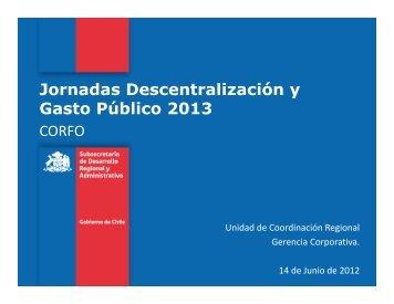 Presentación CORFO - PMG - Descentralización