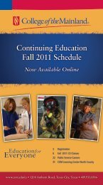 Continuing Education Fall 2011 Schedule - College of the Mainland