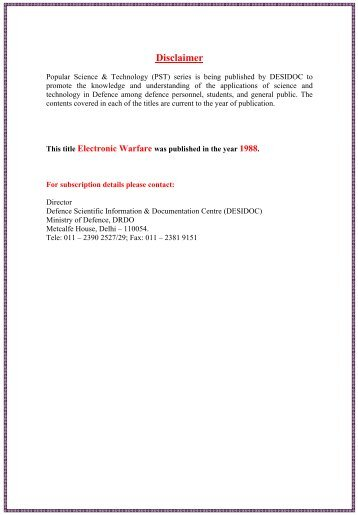 Electronic Warfare - DRDO