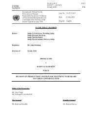 Decision on prosecution's motion for testimony to be heard ... - ICTY