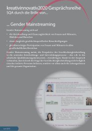 SQA durch die Brille ... von Gender Mainstreaming