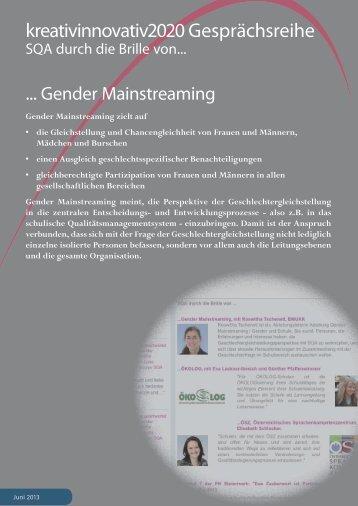 SQA durch die Brille ... von Gender Mainstreaming