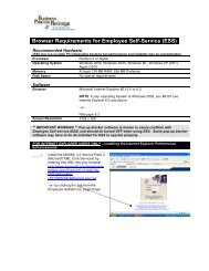 Browser Requirements for Employee Self-Service (ESS)