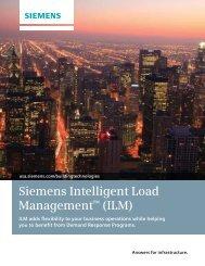 Siemens Intelligent Load Management™ (ILM)