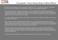 """Il progetto """"Lean Accounting in Metal Work"""""""