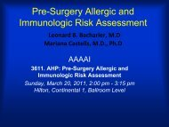 Pre-Surgery Allergic and Immunologic Risk Assessment - AInotes