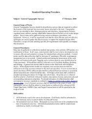 Topographic Surveys Standard Operating Procedure