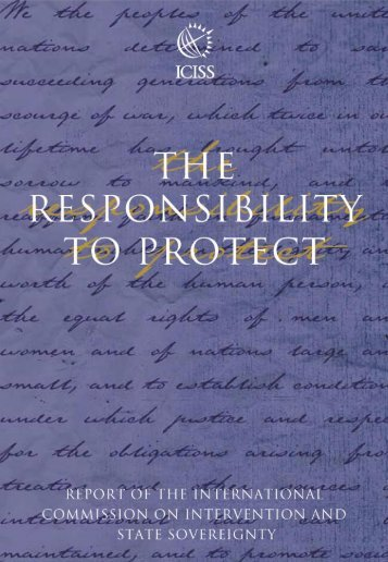 ICISS report - International Coalition for the Responsibility to Protect