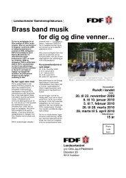 Brass band musik for dig og dine venner… - Leder - FDF