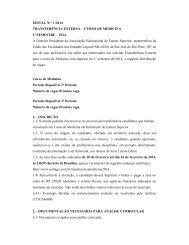 Edital Transferencia Externa Medicina