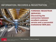 Forensic Registrar Services - AACRAO
