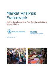 Market Analysis Framework - WFP Remote Access Secure Services