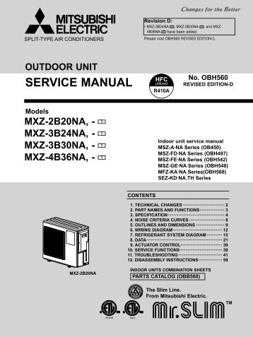 Mitsubishi electric mitsubishi split-type user manual | page 19.