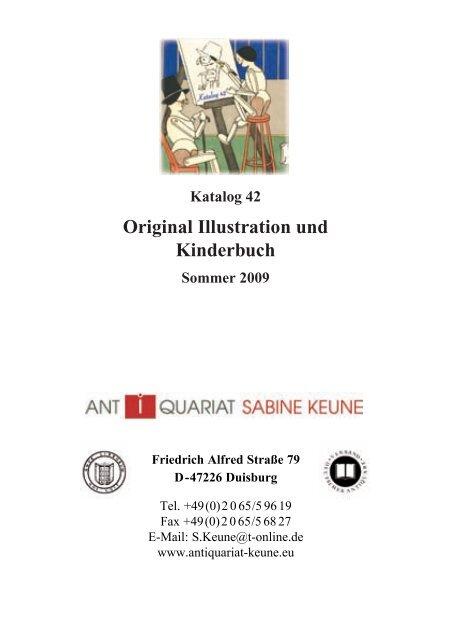 Original Illustration Und Kinderbuch Antiquariat Sabine Keune