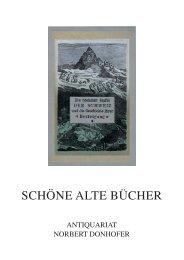 SCHÖNE ALTE BÜCHER - Antiquariat Norbert Donhofer, Wien