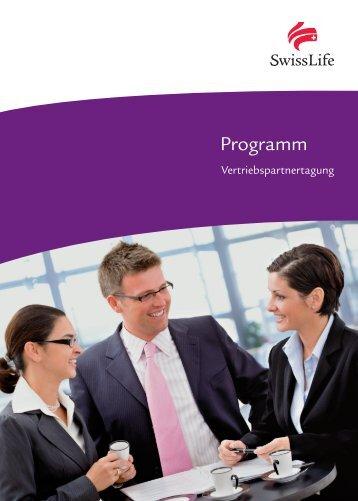 Detailliertes Programm zum downloaden - Swiss Life