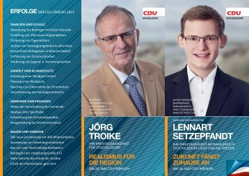 Lennart Setzepfandt jörg troike - CDU OV Stockelsdorf