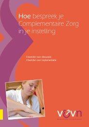 Hoe bespreek je Complementaire Zorg in je instelling - Nursing