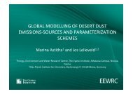 global modelling of desert dust emissions-sources and ...