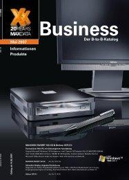 Der B-to-B-Katalog Informationen Produkte Mai 2007 - MaxData