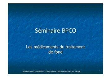 BPCO les traitements de fond J.Birgé - ammppu