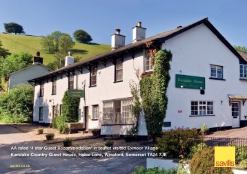'4 star Guest Accommodation' in tourist visited Exmoor ... - Savills